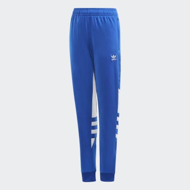 Kids Originals Blue Large Trefoil Pants