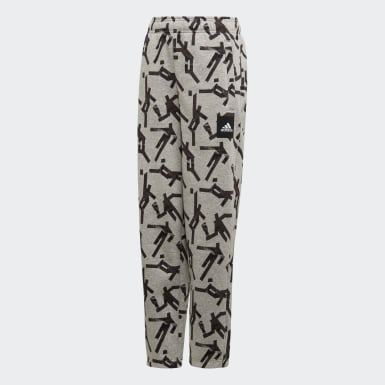 Boys Training Grey Sport ID Graphic Pants