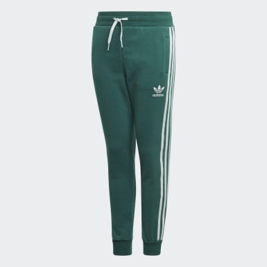 Calça 3-Stripes Verde Kids Originals
