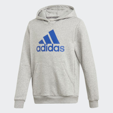 Sudadera Must Haves Badge of Sport Gris Niño Sport Inspired