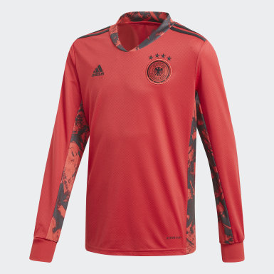 Youth 8-16 Years Football Red Germany Home Goalkeeper Jersey