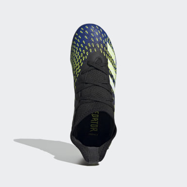 Children Football Black Predator Freak.3 Firm Ground Boots