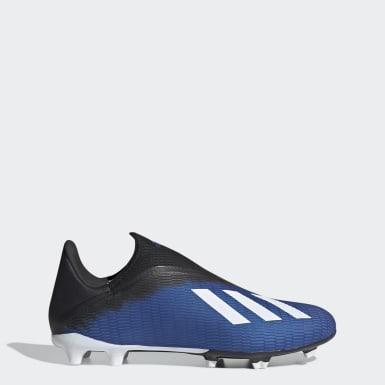 Zapatos de Fútbol X 19.3 Terreno Firme Azul Hombre Fútbol
