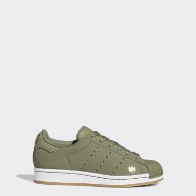 Chaussure Superstar Pure vert Adolescents Originals