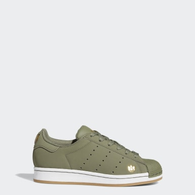 Youth Originals Green Superstar Pure Shoes