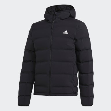 Mænd Urban Outdoor Sort Helionic Soft Hooded dunjakke