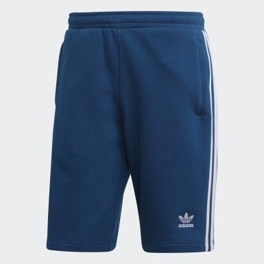 Pantalón corto 3 bandas Azul Hombre Originals