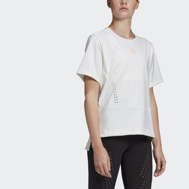 Women's adidas by Stella McCartney White adidas by Stella McCartney TRUESTRENGTH Loose Tee