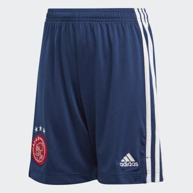 Short Ajax Amsterdam Extérieur Bleu Enfants Football