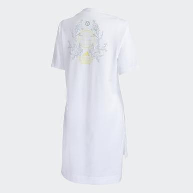 Camiseta Longa ID Branco Mulher Athletics