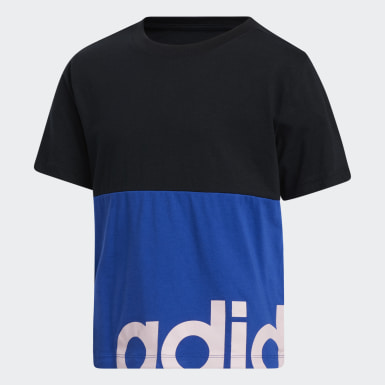 Children Training Blue Blocked Tee
