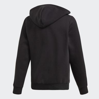 Veste à capuche à 3 bandes Essentials Noir Garçons Athletics