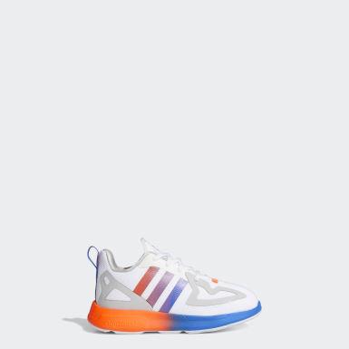 Kids Originals White ZX 2K Flux Shoes