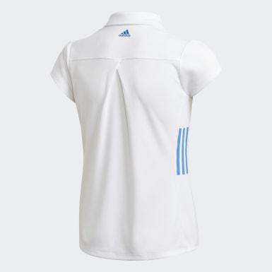 Kids Golf White Polo Shirt