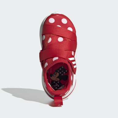 Infants Running Red FortaRun X Polka-Dot Shoes