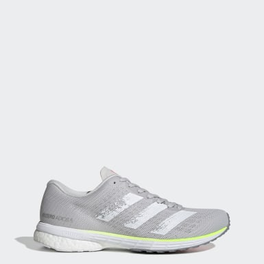 Women Running Grey Adizero Adios 5 Shoes