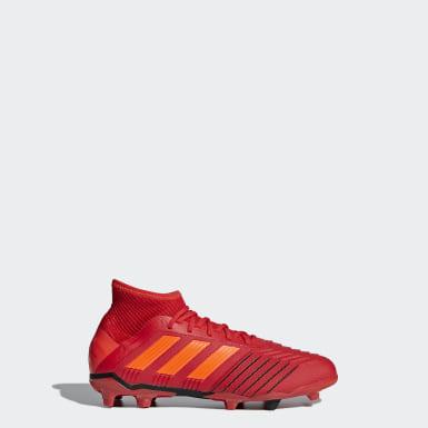 Kids Football Red Predator 19.1 Firm Ground Boots