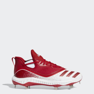 Men's Baseball Red Icon V Bounce Cleats