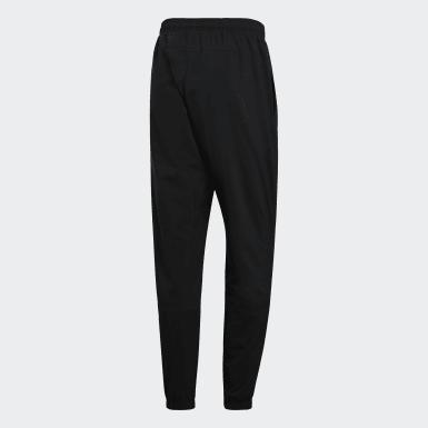 Men Essentials Black Essentials Linear Tapered Stanford Pants