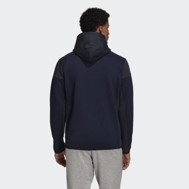 Felpa adidas Z.N.E. AEROREADY Full-Zip Blu Uomo Athletics