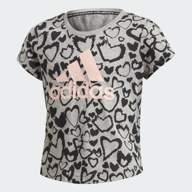 Mädchen Training Must Haves Graphic T-Shirt Grau
