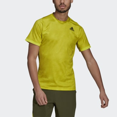 Men Tennis Yellow Tennis Freelift Printed Primeblue T-Shirt