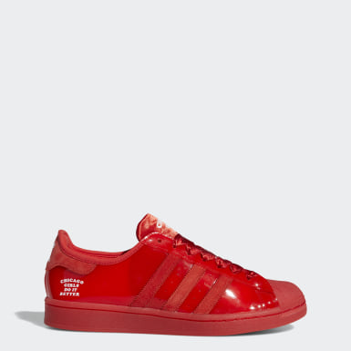 Men's Originals Red Chicago Girls Do It Better Superstar Shoes