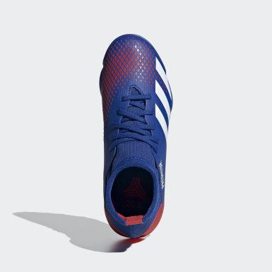 Chuteira Predator 20.3 Society Azul Meninos Futebol