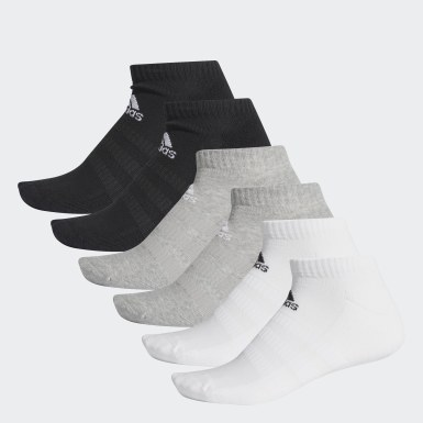 Training Grey Cushioned Low-Cut Socks 6 Pairs