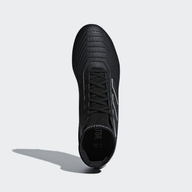 Football Black Predator 18.3 Firm Ground Boots