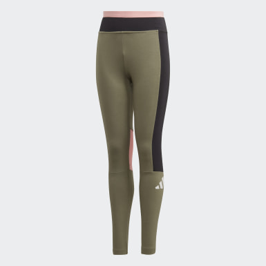 Youth 8-16 Years Athletics Green The Pack Leggings