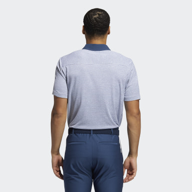 Heren Golf blauw HEAT.RDY Micro-Stripe Poloshirt