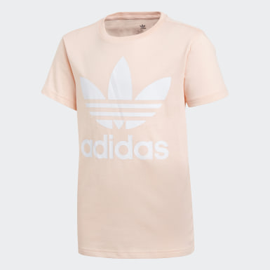 Youth 8-16 Years Originals Pink Trefoil T-Shirt