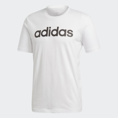 Koszulka Essentials Linear Logo Bialy