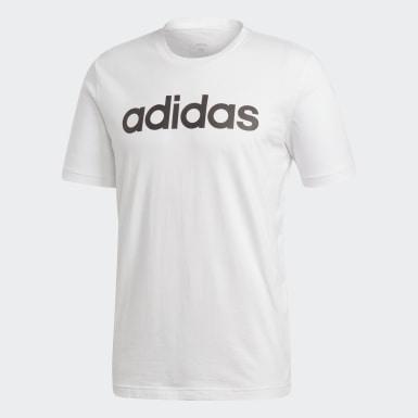 T-shirt Logótipo Linear Essentials Branco Homem Athletics