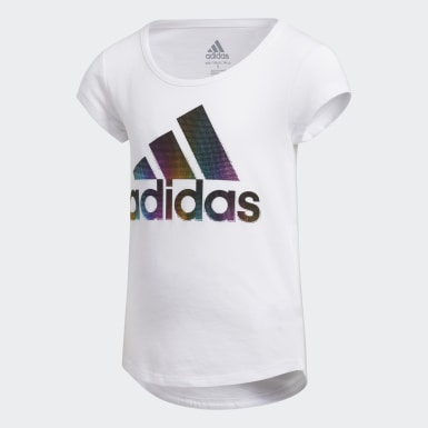 Children Training White Scoop-Neck Tee