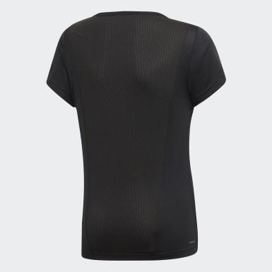 เด็กผู้หญิง เทรนนิง สีดำ เสื้อยืด Cardio