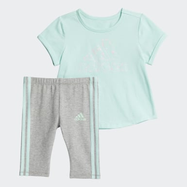 Infant & Toddler Training Turquoise CTN TEE- CAPRI TIGHT SET