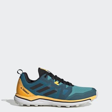 Heren TERREX Turquoise Terrex Agravic Trail Running Schoenen