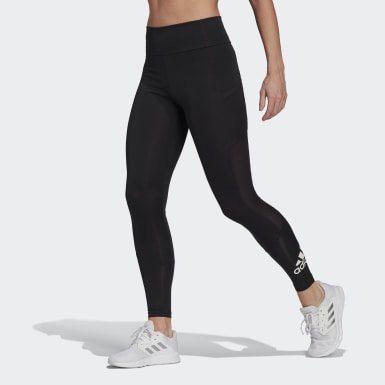 Women Training Black Designed To Move Big Logo Sport Tights