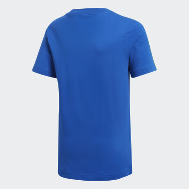 Polo Essentials 3 Tiras Azul Niño Training