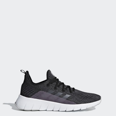 Women Running Black Asweego Shoes
