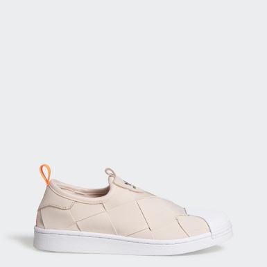 Women Originals Beige Superstar Slip-On Shoes