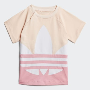 Infants Originals Pink Large Trefoil Short Tee Set