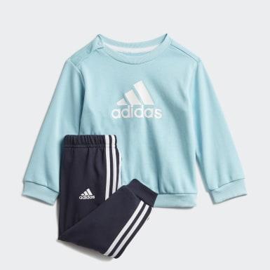 Børn Træning Blå Badge of Sport French Terry joggingsæt
