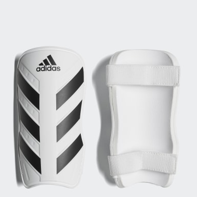 Football White Everlite Shin Guards