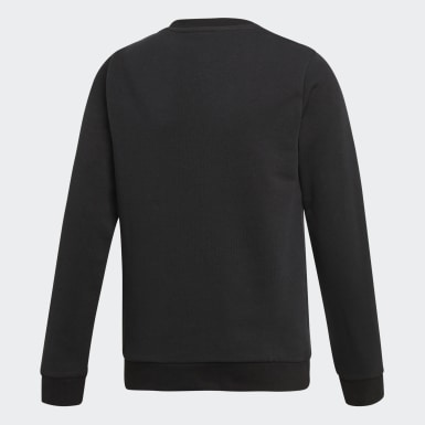 Kids Originals Black Trefoil Crew Sweatshirt
