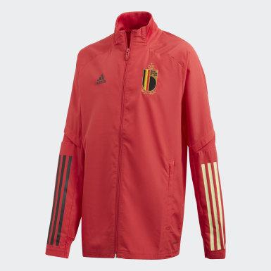 Kinder Fußball Belgien Präsentationsjacke Rot