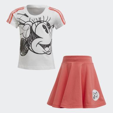 เด็กผู้หญิง เทรนนิง สีขาว ชุด Minnie Mouse สำหรับหน้าร้อน