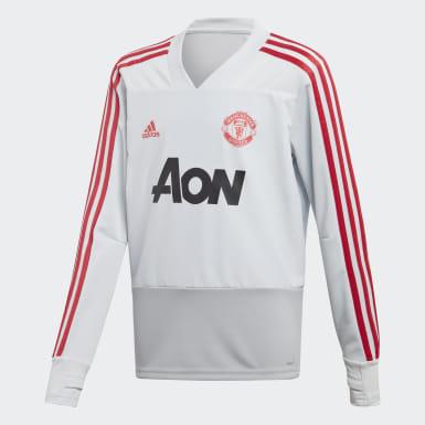 Børn Fodbold Grå Manchester United træningstrøje